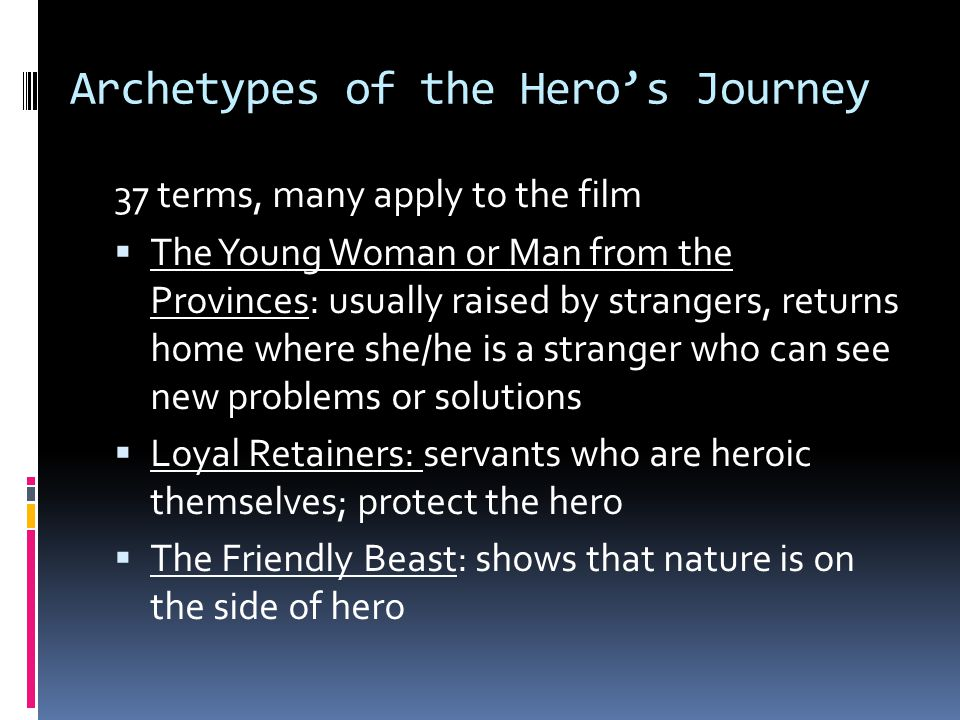 Archetypes of the Hero's Journey