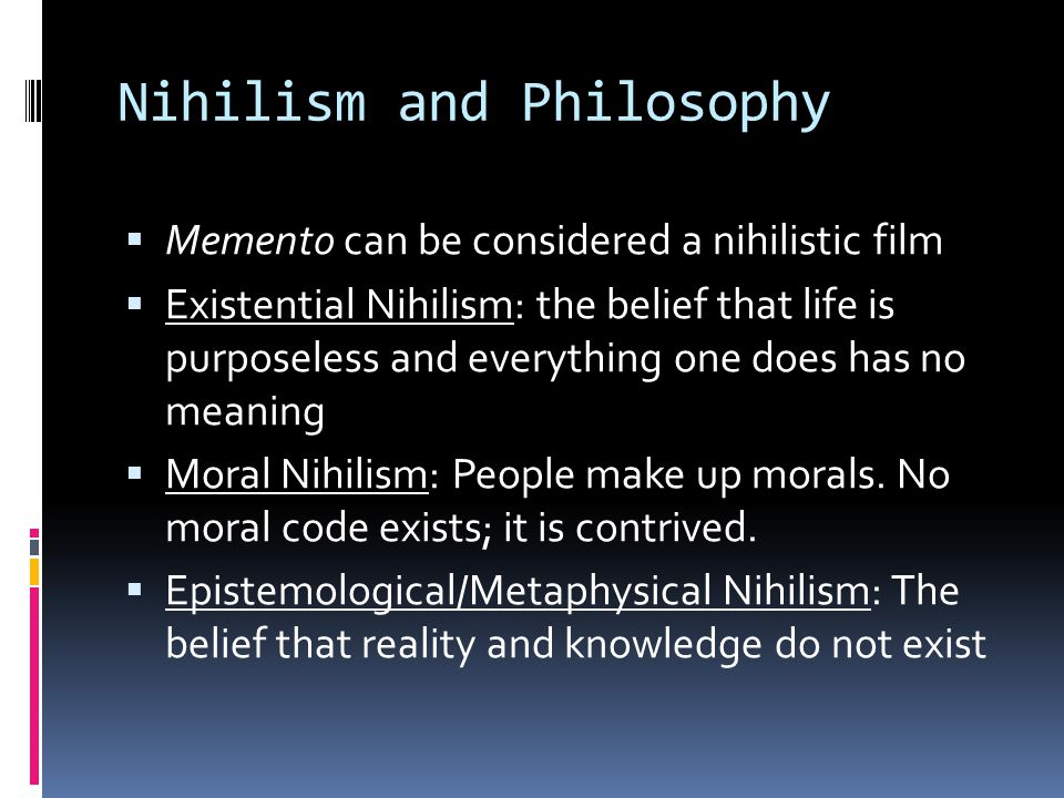 Nihilism and Philosophy