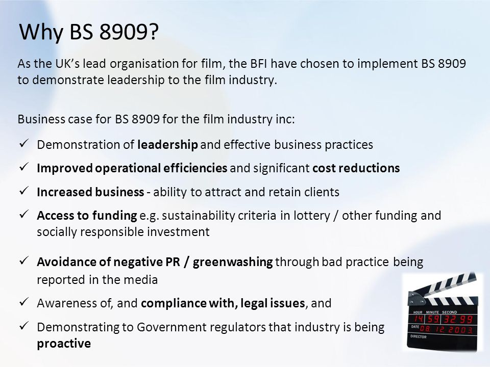 Why BS 8909
