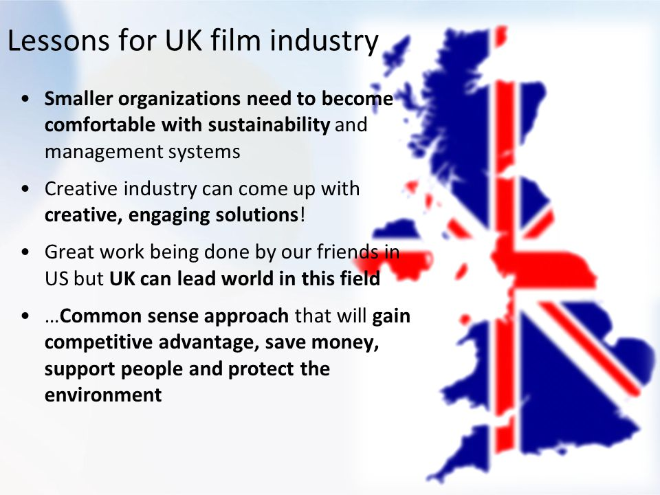 Lessons for UK film industry