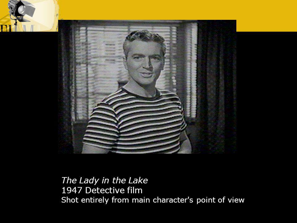 The Lady in the Lake 1947 Detective film Shot entirely from main character s point of view