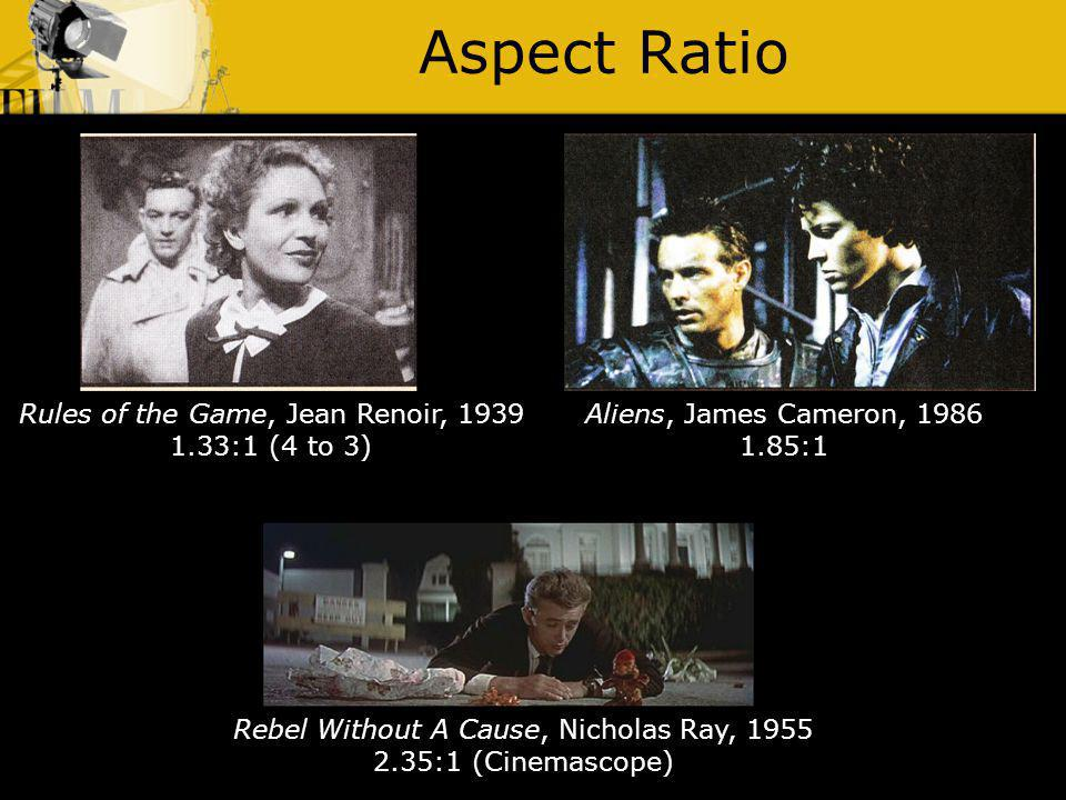 Aspect Ratio Rules of the Game, Jean Renoir, 1939 1.33:1 (4 to 3)