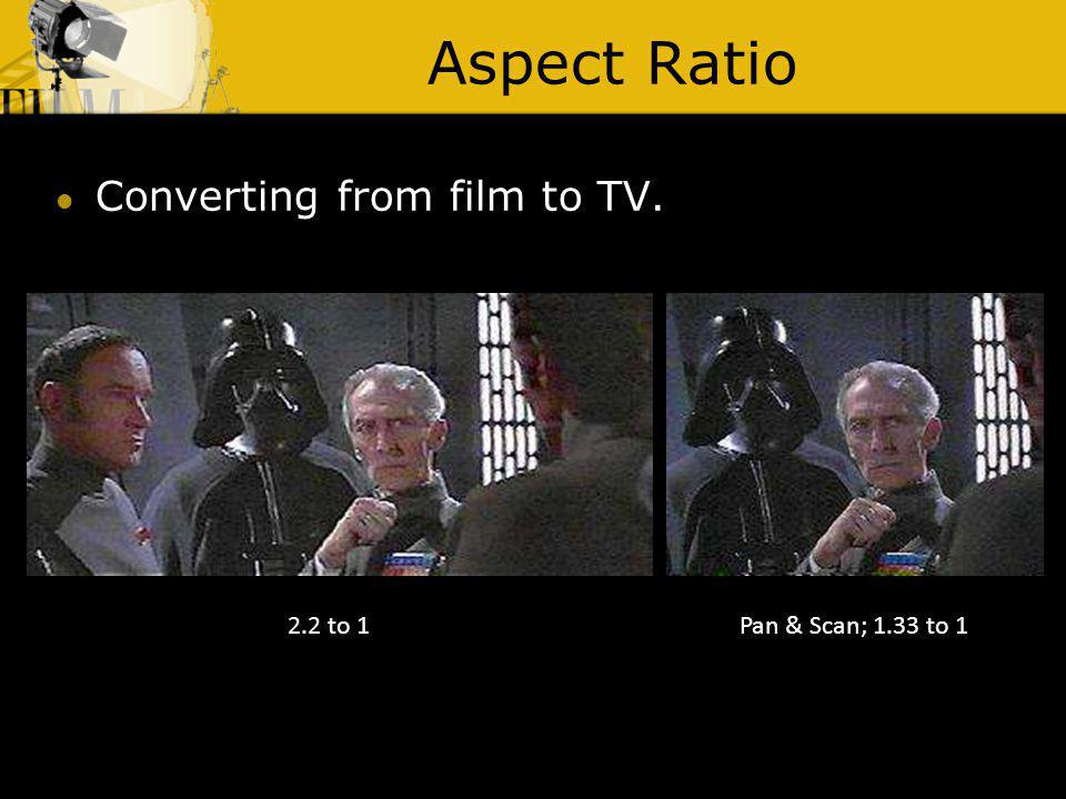 Aspect Ratio Converting from film to TV. 2.2 to 1
