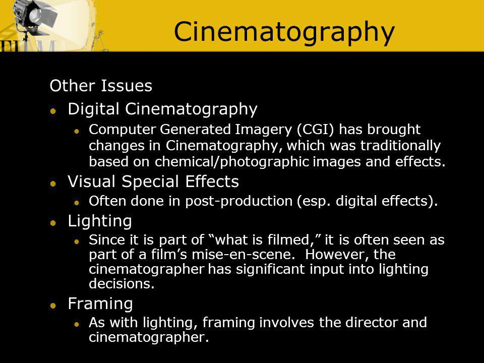 Cinematography Other Issues Digital Cinematography