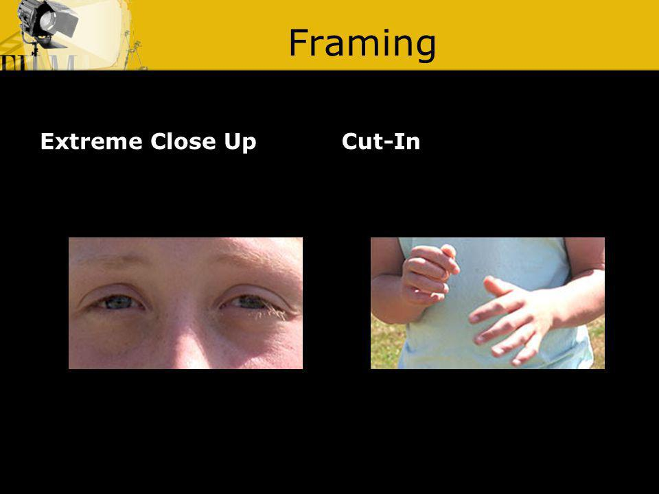 Framing Extreme Close Up Cut-In