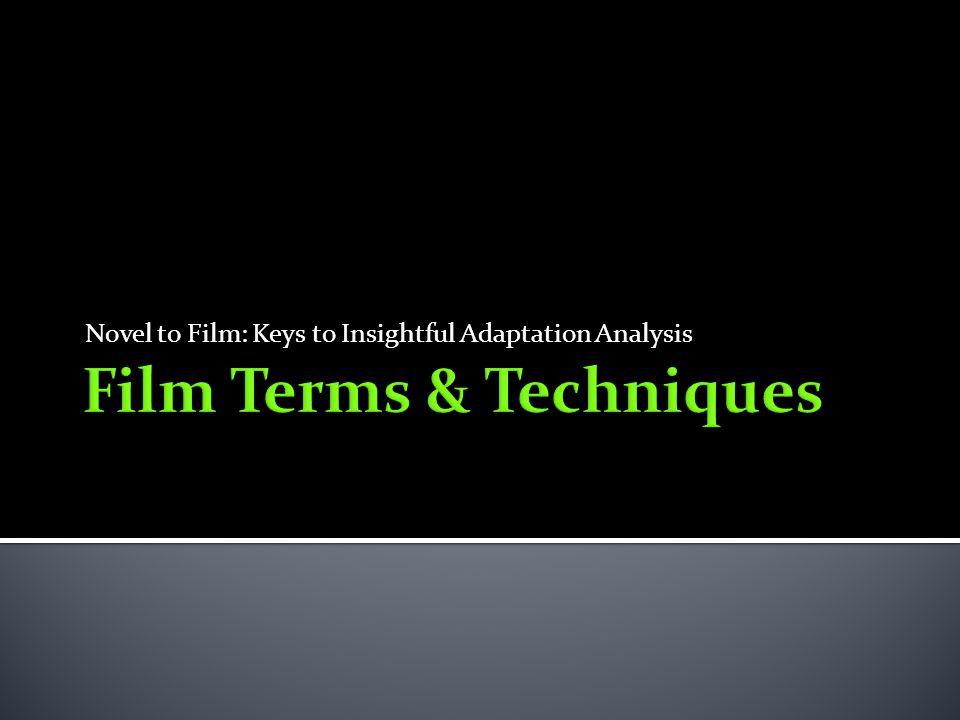 Film Terms & Techniques