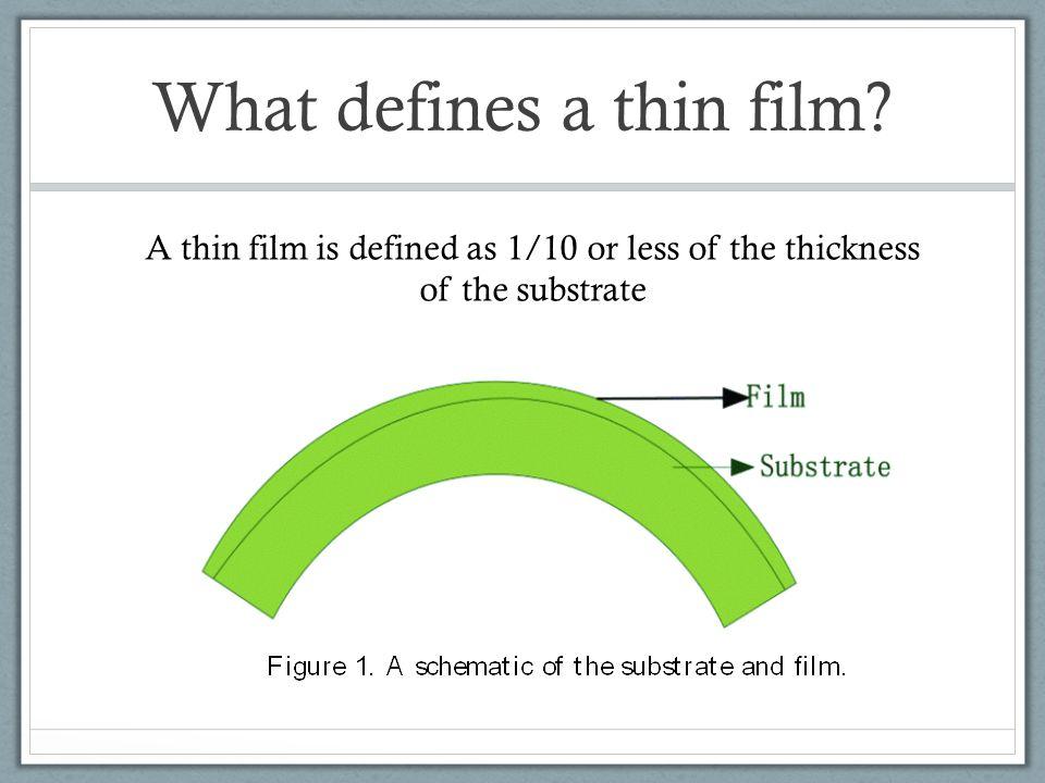 What defines a thin film