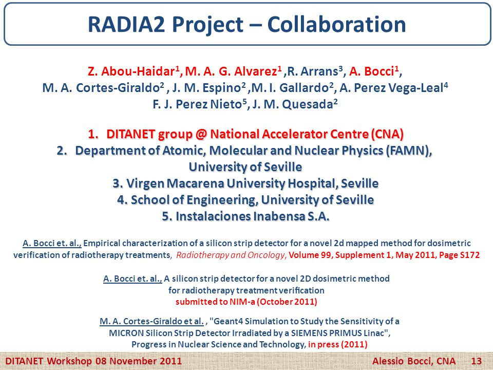 RADIA2 Project – Collaboration