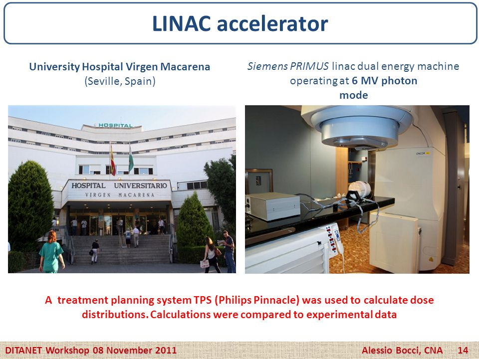 LINAC accelerator University Hospital Virgen Macarena