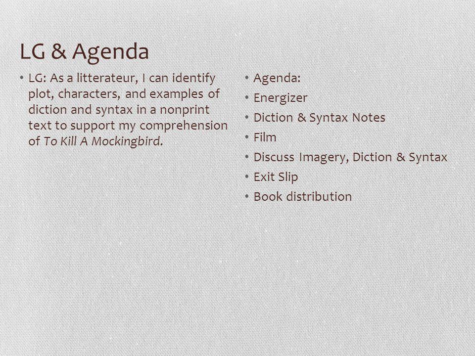 LG & Agenda