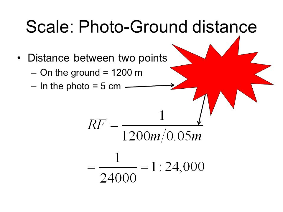 Scale: Photo-Ground distance