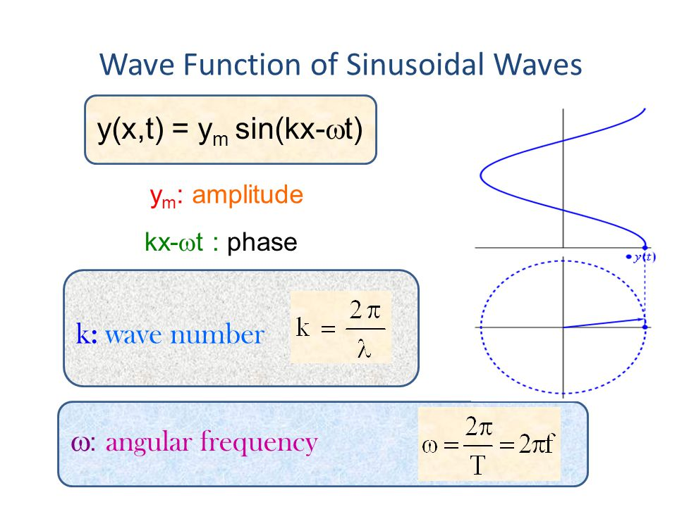 Wave Function of Sinusoidal Waves