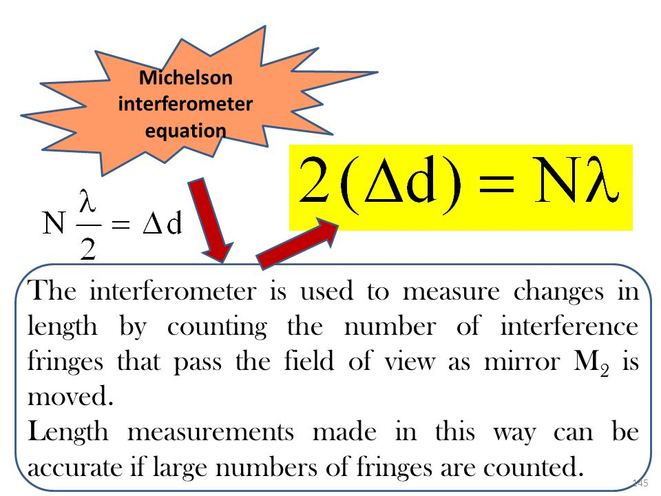 Michelson interferometer equation