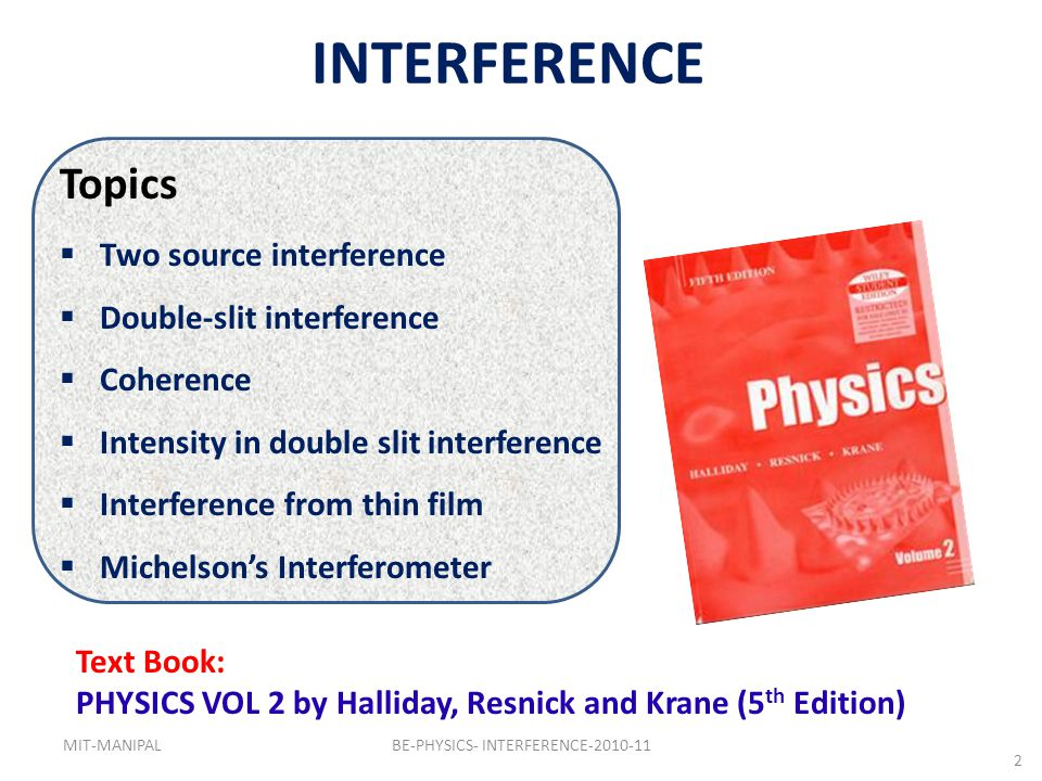 BE-PHYSICS- INTERFERENCE-2010-11