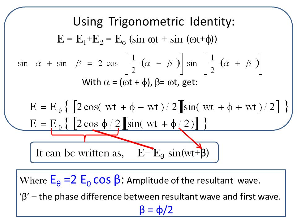 Using Trigonometric Identity: