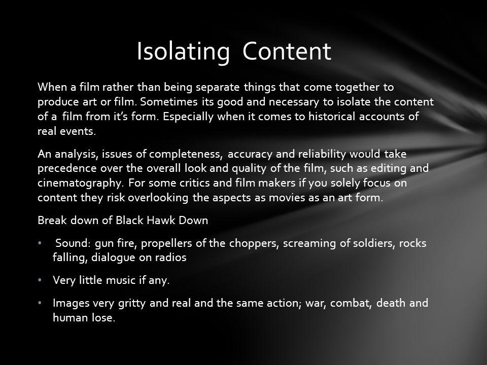 Isolating Content