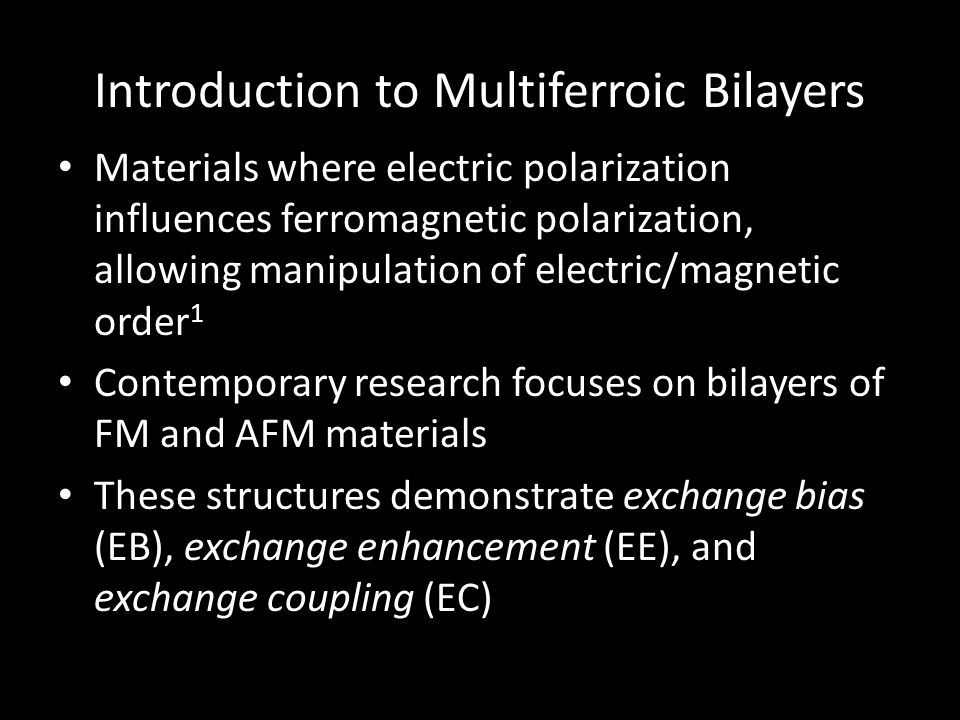 Introduction to Multiferroic Bilayers