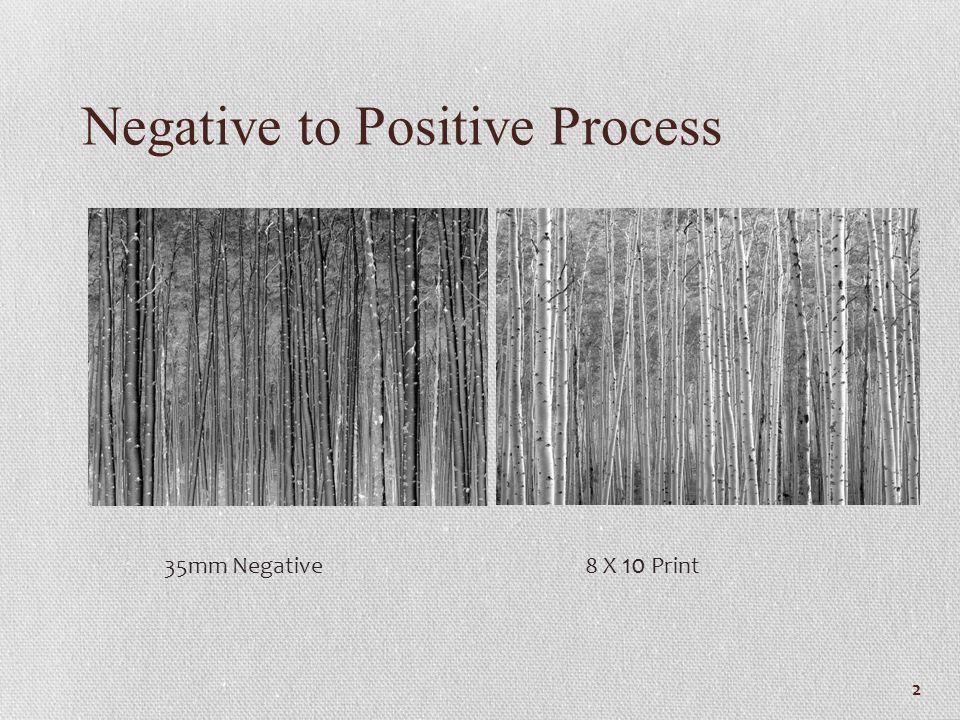 Negative to Positive Process