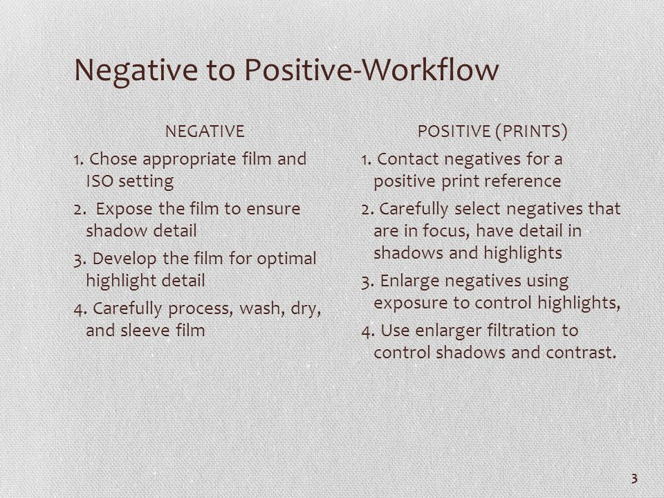 Negative to Positive-Workflow