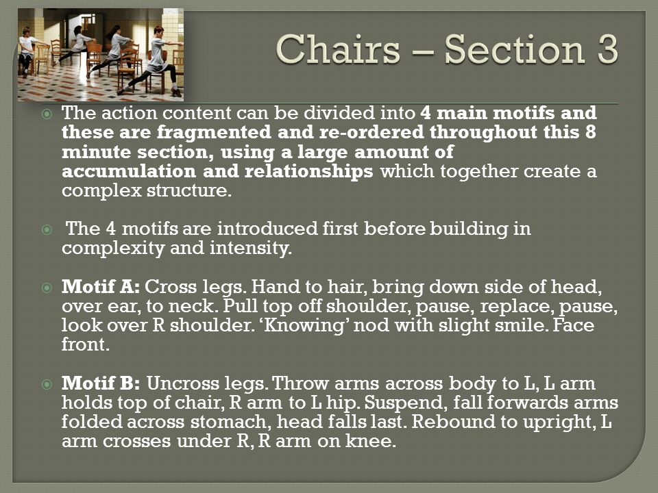 Chairs – Section 3