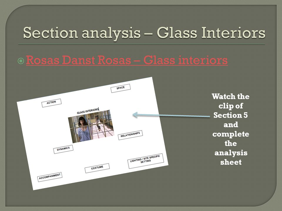 Section analysis – Glass Interiors