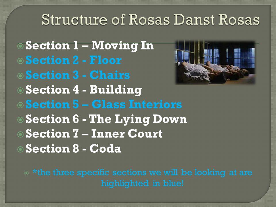 Structure of Rosas Danst Rosas