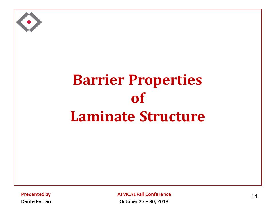 Barrier Properties of Laminate Structure