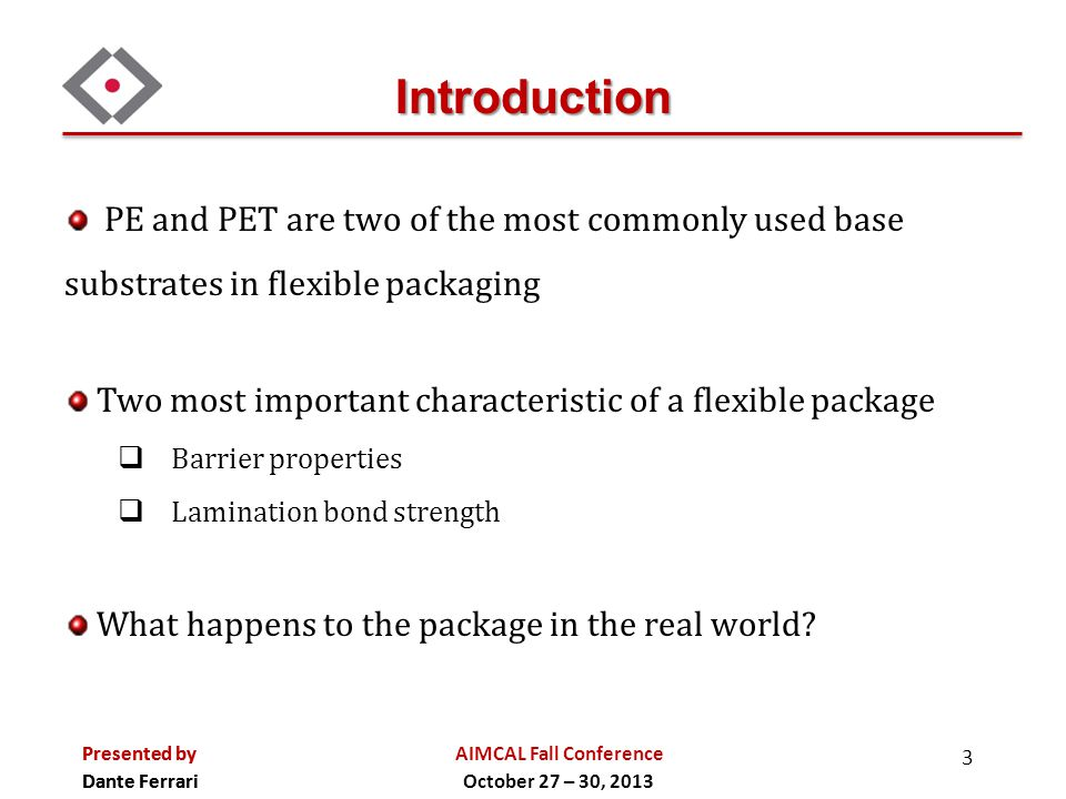Introduction PE and PET are two of the most commonly used base substrates in flexible packaging.