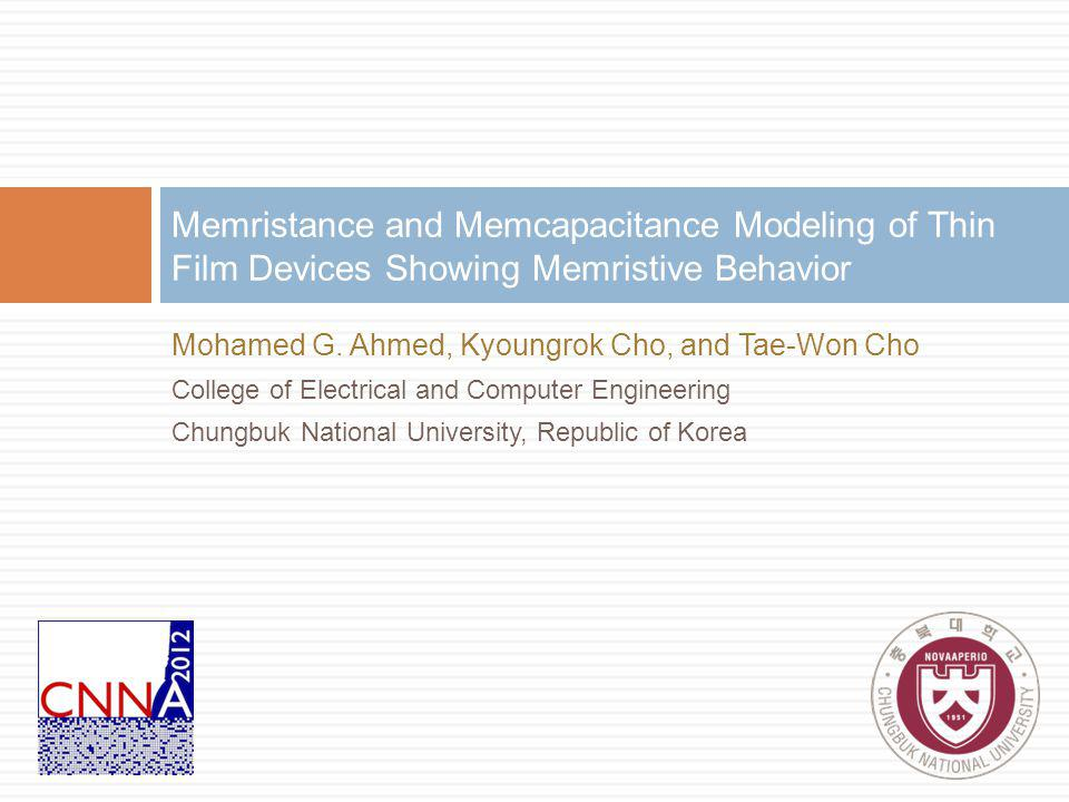 Memristance and Memcapacitance Modeling of Thin Film Devices Showing Memristive Behavior