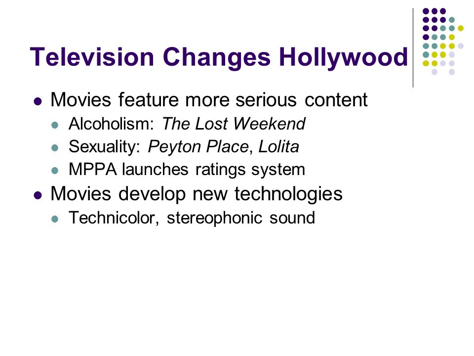 Television Changes Hollywood