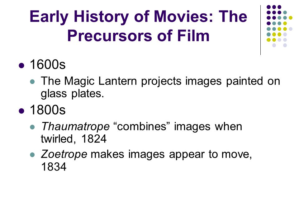 Early History of Movies: The Precursors of Film
