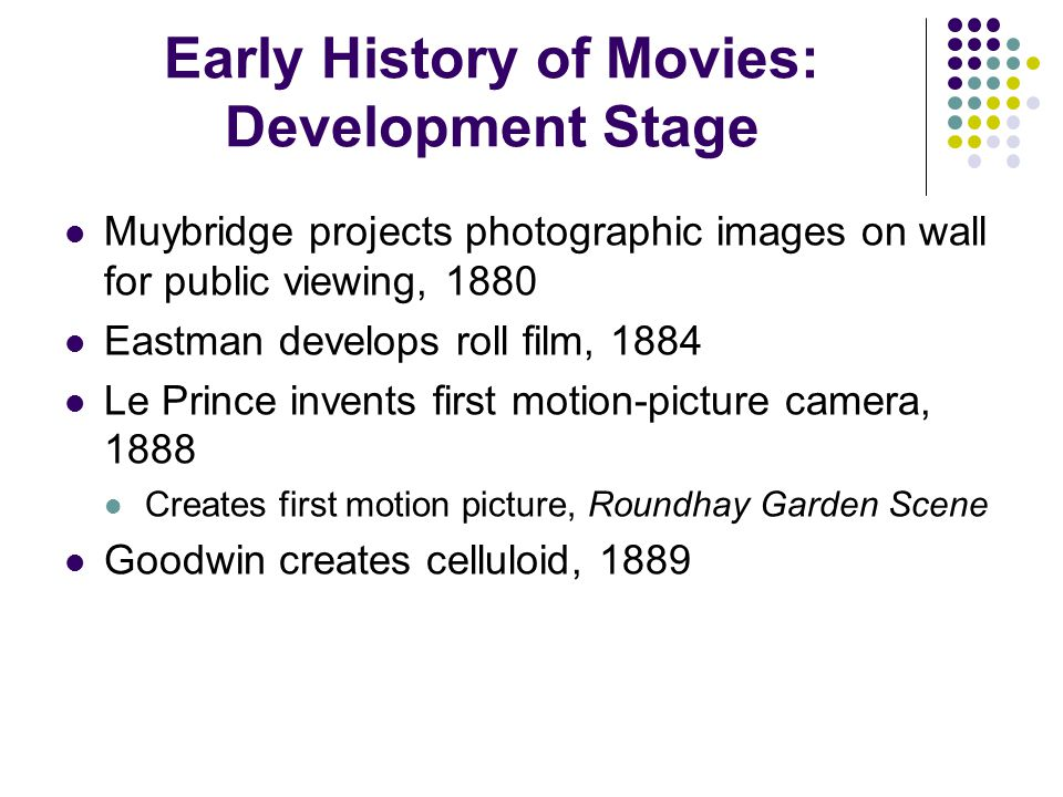 Early History of Movies: Development Stage