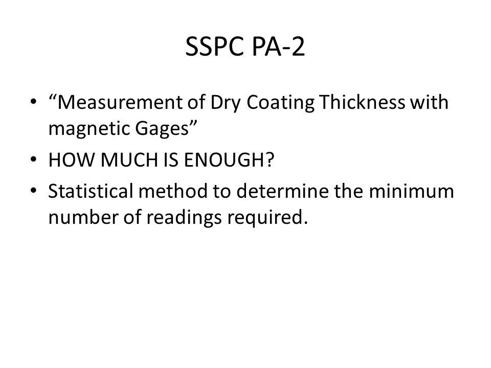 SSPC PA-2 Measurement of Dry Coating Thickness with magnetic Gages