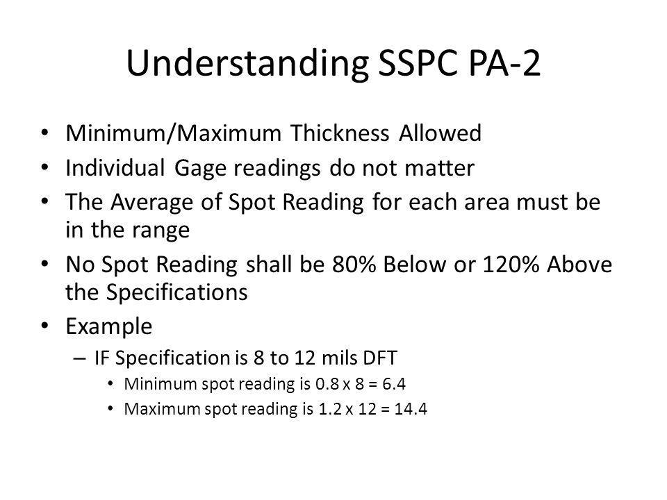 Understanding SSPC PA-2