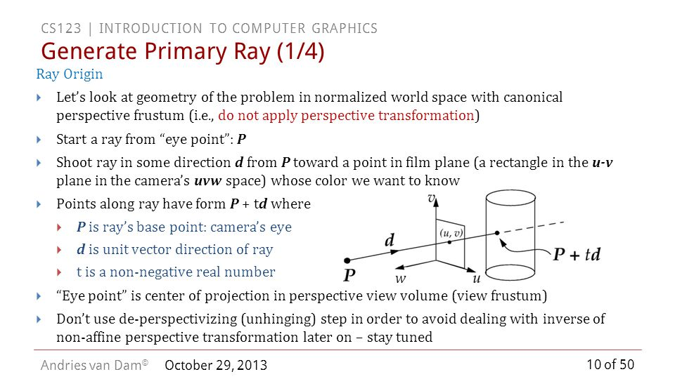 Generate Primary Ray (1/4)