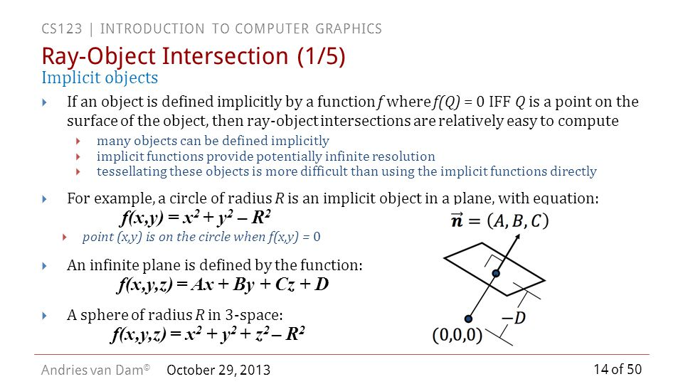 Ray-Object Intersection (1/5)