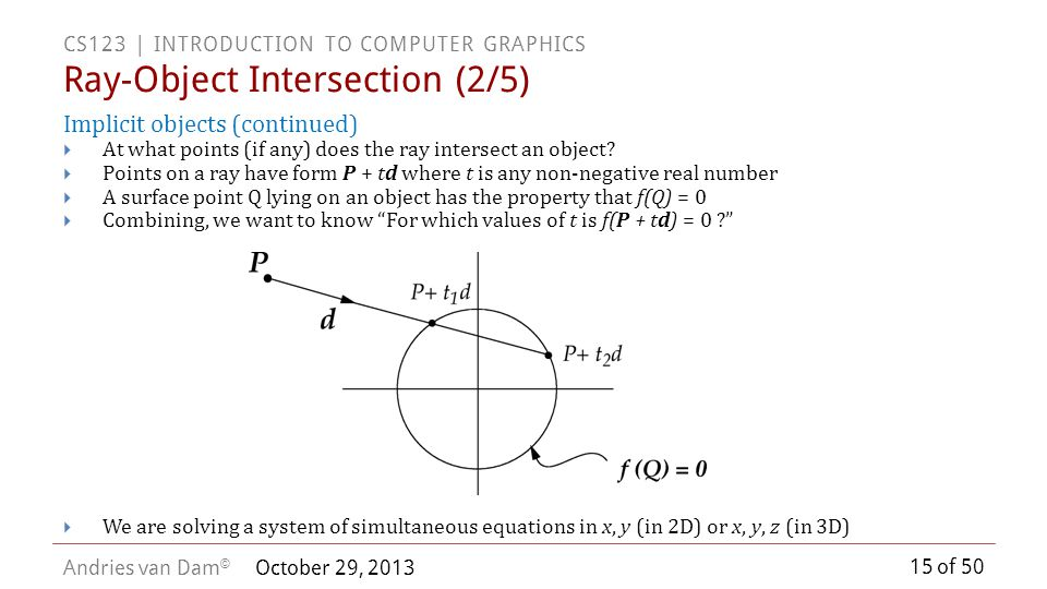 Ray-Object Intersection (2/5)