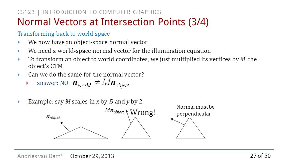 Normal Vectors at Intersection Points (3/4)