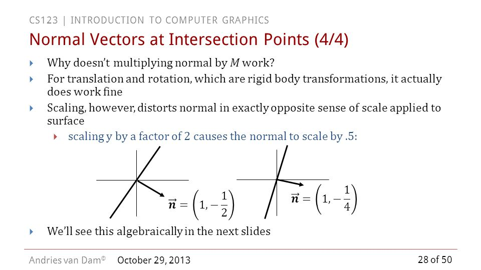 Normal Vectors at Intersection Points (4/4)