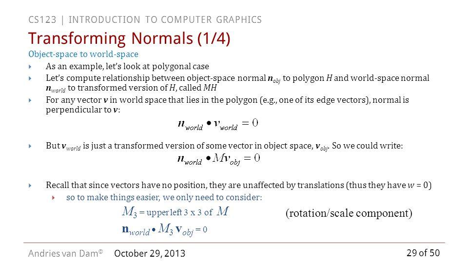 Transforming Normals (1/4)