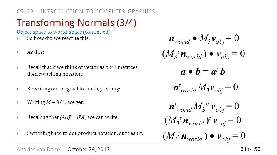 Transforming Normals (3/4)