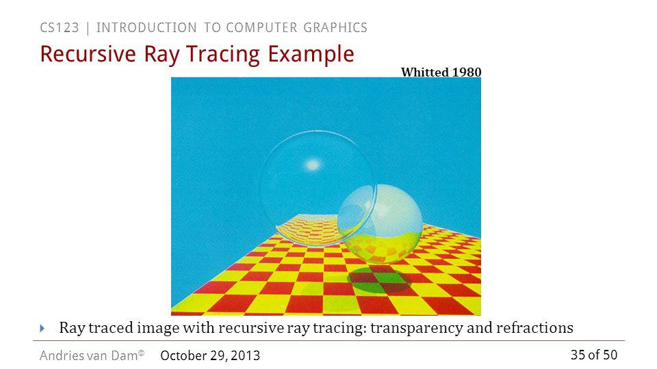 Recursive Ray Tracing Example