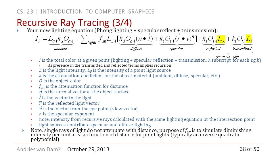 Recursive Ray Tracing (3/4)
