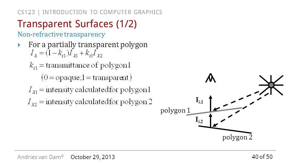 Transparent Surfaces (1/2)