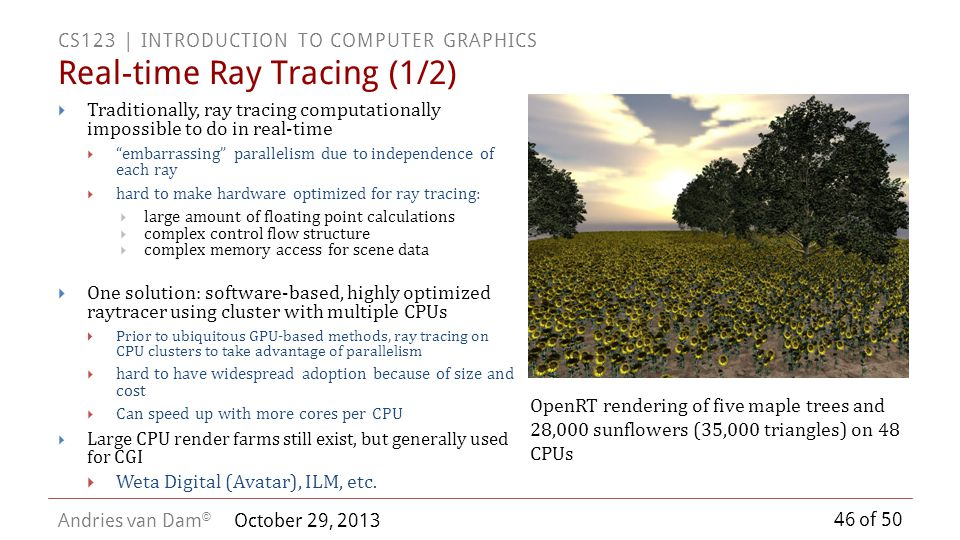 Real-time Ray Tracing (1/2)