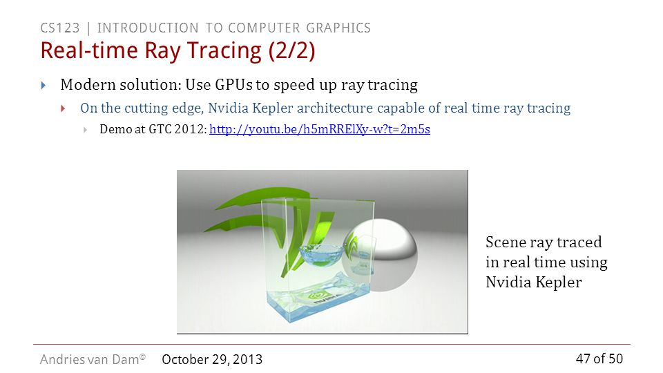Real-time Ray Tracing (2/2)