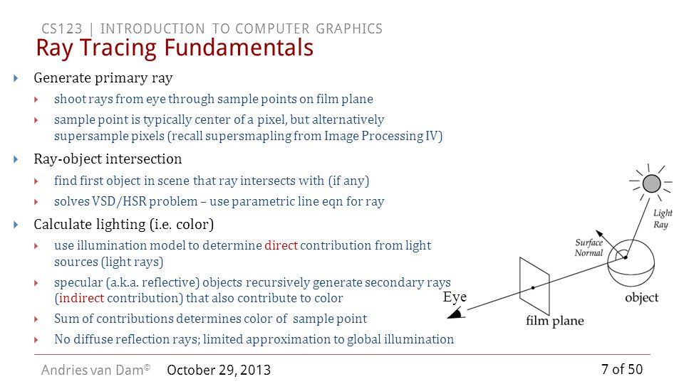 Ray Tracing Fundamentals