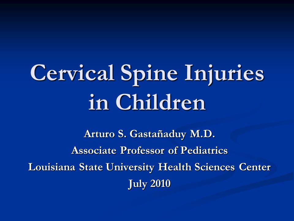 Cervical Spine Injuries in Children