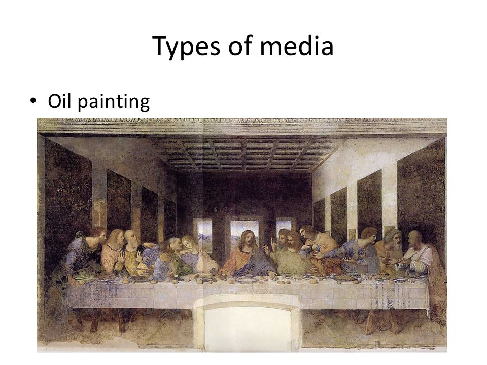 Types of media Oil painting