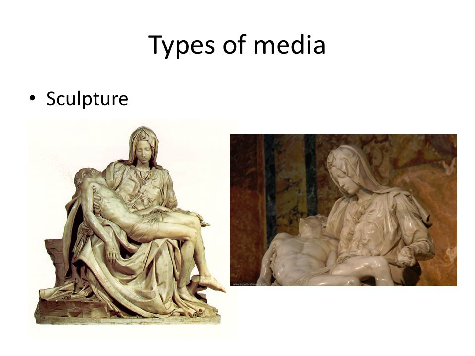 Types of media Sculpture